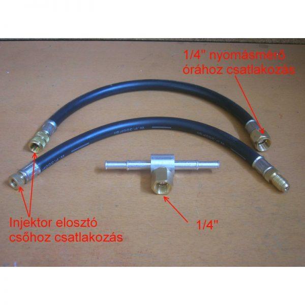 Benzines és dízel üzemanyag nyomás mérő kiegészítő adapterek