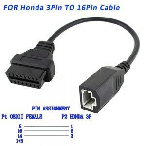 honda 3 pólusó obd átalakító kábel csatlakozó