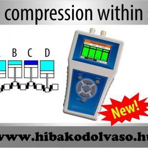 relatív kompresszió mérő