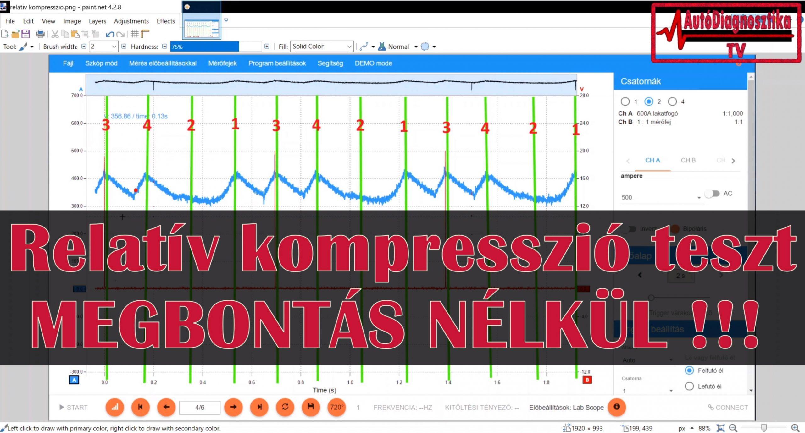 Relatív kompresszió mérés, Relativ kompresszió teszt